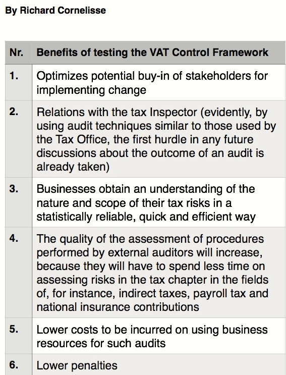 9 benefits of testing the VAT Control Framework