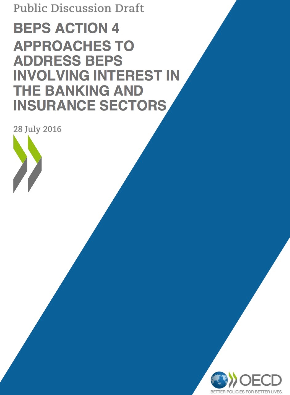 OECDs BEPS involving interest in the banking and insurance sectors