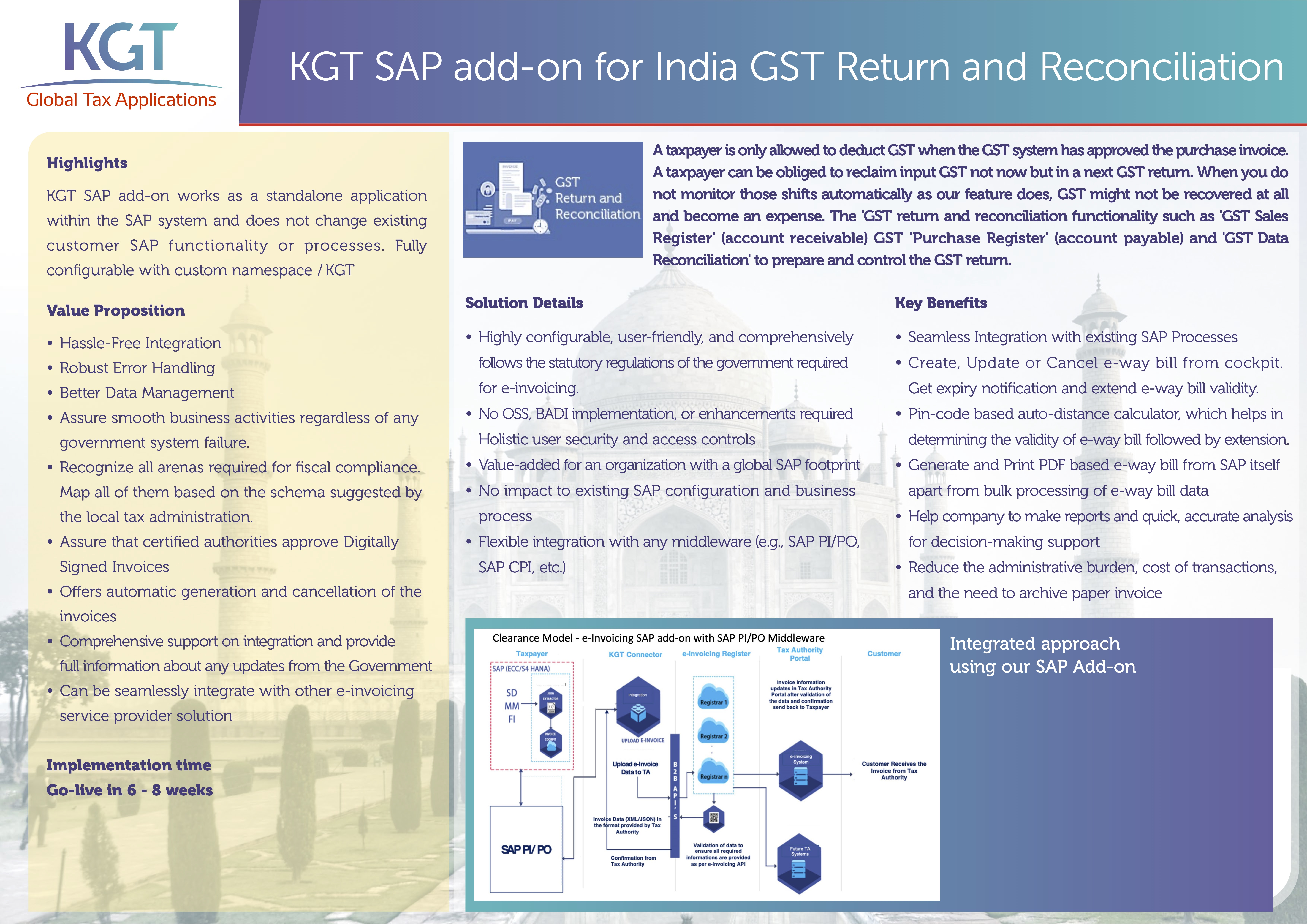 OnePager India GST return and reconciliation